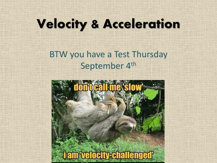 velocity acceleration n.