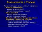 assessment is a process2