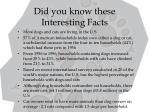 did you know these interesting facts