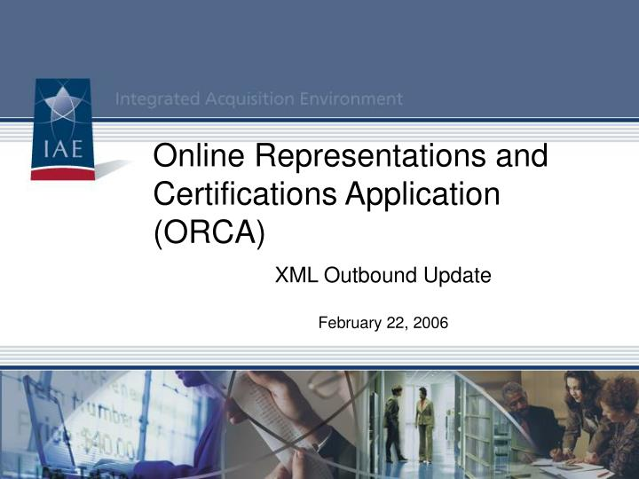 online representations and certifications application orca n.