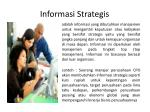 informasi strategis