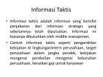 informasi taktis