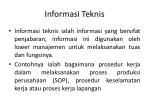 informasi teknis