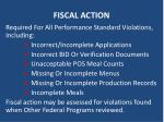 fiscal action