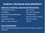 general program requirements