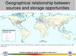 geographical relationship between sources and storage opportunities