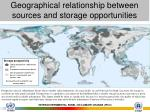 geographical relationship between sources and storage opportunities1