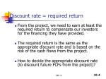 discount rate required return