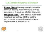 l i sample response continued
