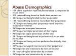 abuse demographics