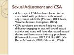 sexual adjustment and csa