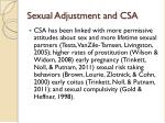 sexual adjustment and csa1