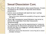 sexual dissociation cont