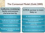 the contextual model gold 2000