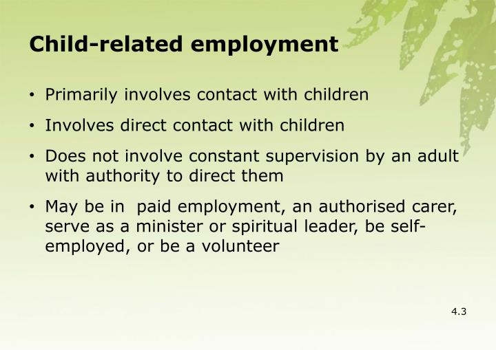 Child-related employment