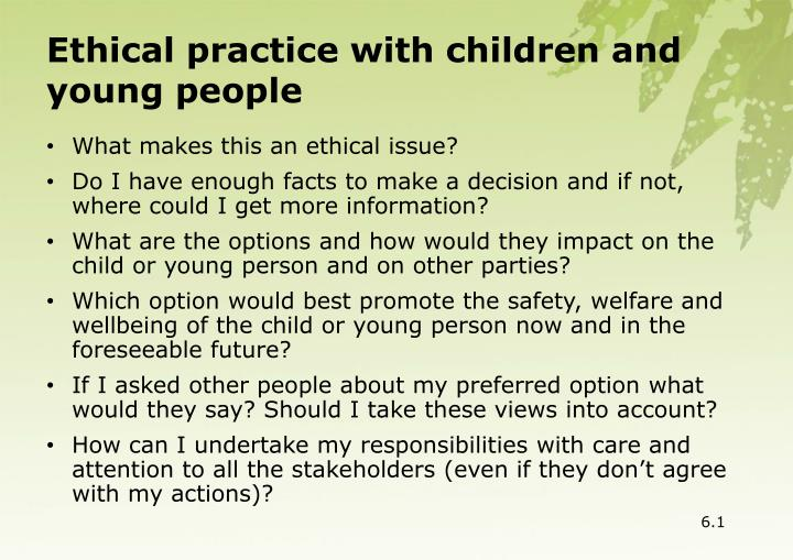 Ethical practice with children and young people