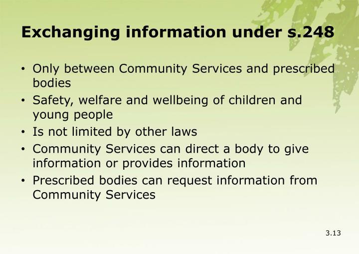 Exchanging information under s.248