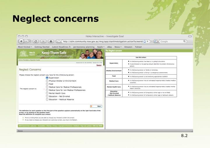Neglect concerns