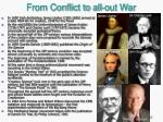 from conflict to all out war