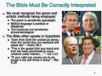 the bible must be correctly interpreted1