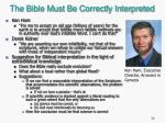 the bible must be correctly interpreted2