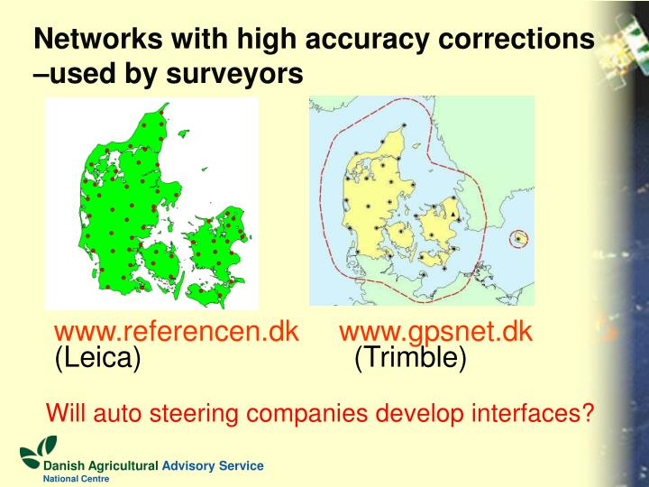Networks with high accuracy corrections –used by surveyors