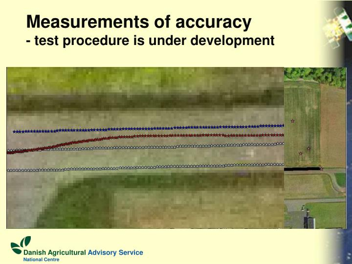 Measurements of accuracy