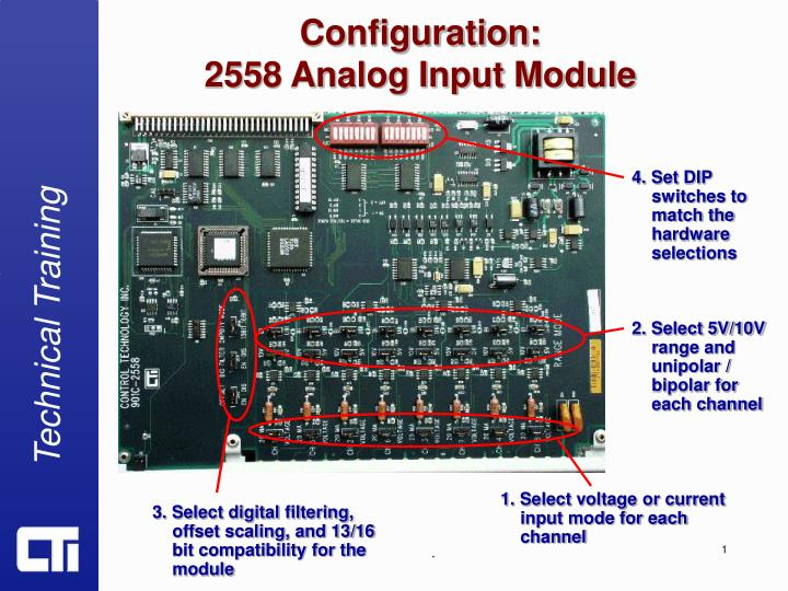 configuration 2558 analog input module n.