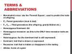 terms abbreviations