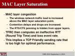 mac layer saturation