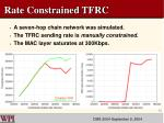 rate constrained tfrc