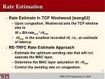 rate estimation
