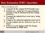 rate estimation tfrc algorithm