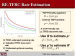 re tfrc rate estimation