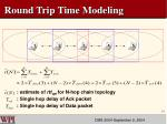 round trip time modeling1