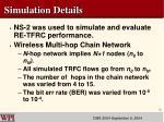 simulation details