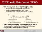tcp friendly rate control tfrc