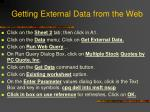 getting external data from the web
