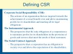 defining csr1
