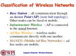classification of wireless networks