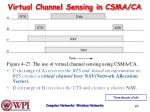 virtual channel sensing in csma ca