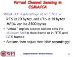 virtual channel sensing in csma ca1