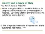 energy and change of state