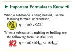 important formulas to know