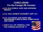 conclusion for the foreign re investor