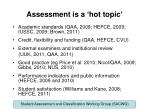 assessment is a hot topic