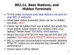 802 11 base stations and hidden terminals