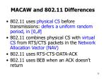 macaw and 802 11 differences