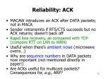 reliability ack