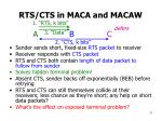 rts cts in maca and macaw